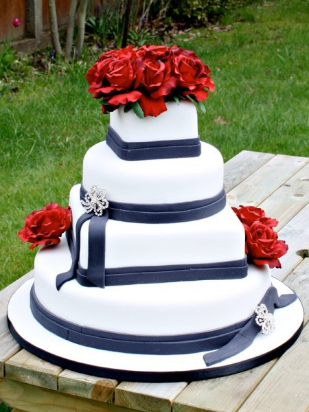 Navy Blue And Red Wedding Cakes - 5000+ Simple Wedding Cakes